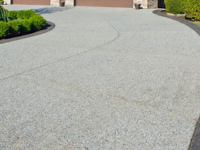 Resin driveway installation