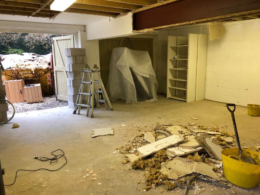 Large garage renovation project
