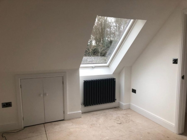 Roof window in flat renovation