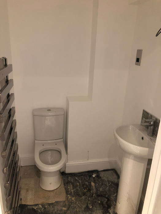 New toilet and basin in flat