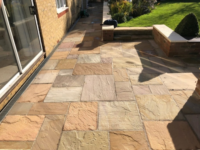 Paved patio installed in Buckinghamshire