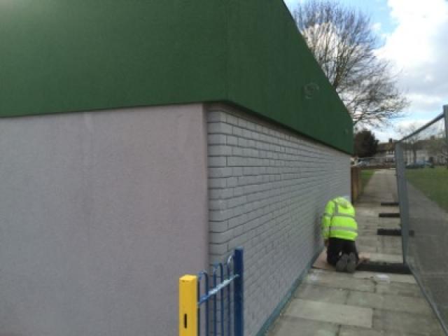 Modern building rear wall construction