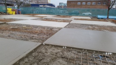 Foundations being laid for car park project in London