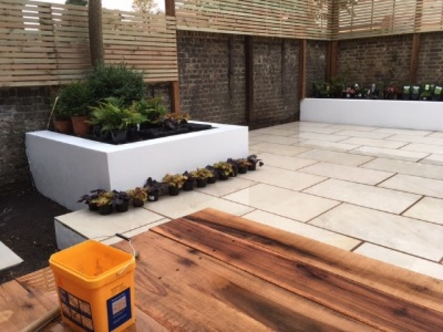 Attractive paved area completed in London