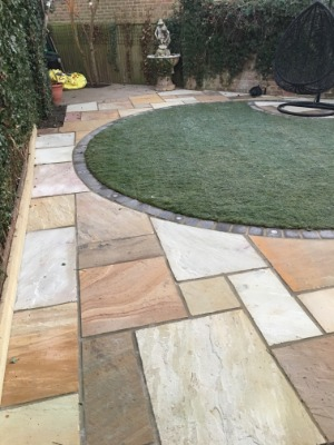 Finished patio project in London by J Wilkes Paving and Construction Ltd