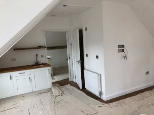 Flat interior being decorated in Buckinghamshire