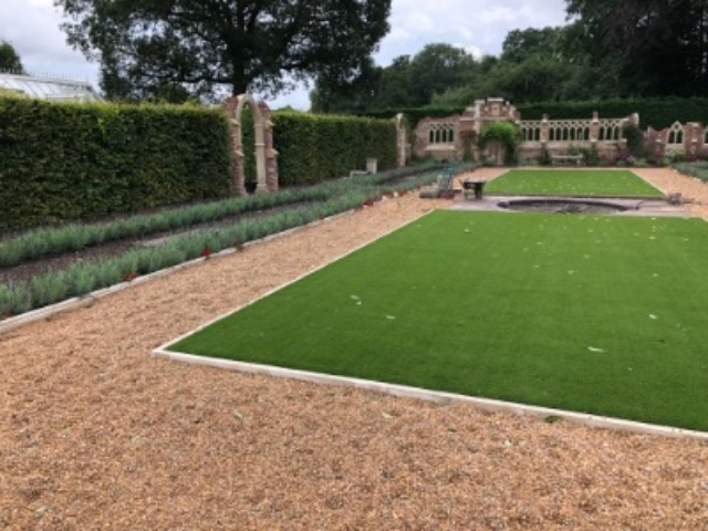 Garden landscaping project in Buckinghamshire