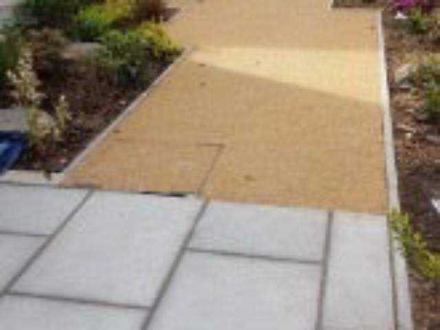 Combined paving and pathway