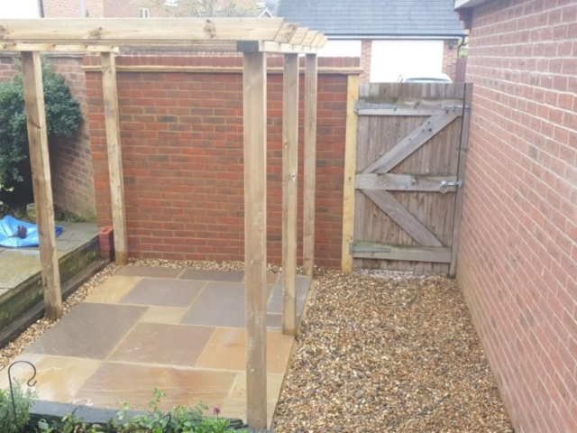 Rear garden wall completed